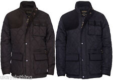 Men Quilted Padded Hunting Style Jacket Coat