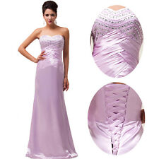 New Long Strapless Evening Formal Prom Cocktail Party Bridesmaid Dress Ball Gown