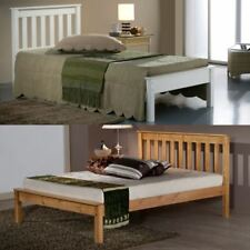 Happy Beds Denver Classic Styled Wooden Bed Pine/Ivory Bedroom Home Mattress New