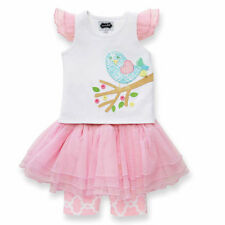 MUD PIE Little Chick Skirt Set Easter Spring Dress Tutu Girl 12 Months to 5T NEW