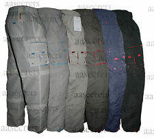 Mens 3 In 1 Combat Cargo Zip Off Light Work Casual Trousers Shorts 3/4 Pants