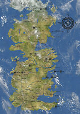 Game of Thrones, Westeros Map GIANT Poster, various sizes from A4 A3