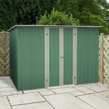 NEW METAL STORAGE SHEDS BUDGET STEEL APEX / PENT ROOF VARIOUS SIZES FREE P+P