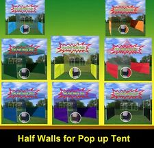 Two Half Walls for 10'x10', 10'x15', 10'x20' Pop up Paty Tent Canopy - 8 Colors