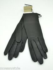 BURBERRY Jenny Black Lambskin Leather Stretch Gloves Women NWT Choose size