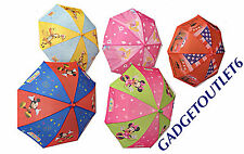 CHILDREN DISNEY UMBRELLA MICKEY& MINI MOUSE,PRINCESS CARS,TIGER&POOH BOYS&GIRLS
