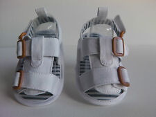 Baby Boy/Girl Pre-Walker Canvas Sandals. White with velcro straps. Soft Sole.