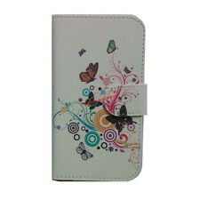 deluxe butterfly flower Wallet case Cover For LENOVO ZTE HUAWEI Samsung iPhone