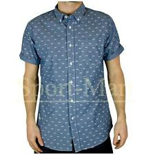 Mens Crosshatch Mikey All Over Print Slim Fit Short Sleeve Casual Shirt Mens Siz