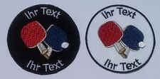 Table Tennis Ping Pong patch with your text 8cm  (26)