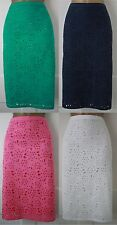 RRP £48!New Boden Green Pink White Navy Blue Anglaise Lined Summer Skirt Sz6-22