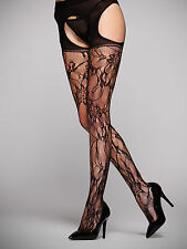 Ann Summers Womens Crotchless Lace Tights Sexy Stockings Underwear Lingerie New