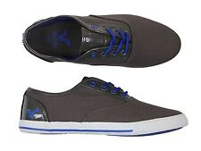 MENS NEW VOI JEANS FIERY PATENT LACE-UP PILIMSOLLS TRAINERS IN GREY COLOUR 6-12