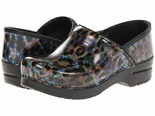 $135 NEW WOMENS DANSKO PROFESSIONAL LEOPARD MULTI  PATENT SHOES CLOGS SIZE