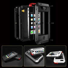 I3C Water/Shockproof Aluminum Gorilla Glass Metal Case Cover For Apple iPhone