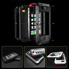 Aluminum Gorilla Glass Metal Cover Case for iPhone 4 4S 4G Waterproof Shockproof