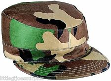 WOODLAND CAMO GOVT SPEC 2 PLY Poly/Cotton Military Patrol Fatigue Cap 5640