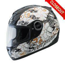 SCORPION EXO700 FIORE GOLD BLACK MOTORCYCLE HELMET EXO 700 STREET RIDING NEW