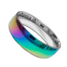 Pride Shack -LGBT Rainbow Anodized WIDE SMOOTH FLAT Steel Lesbian Gay Pride Ring