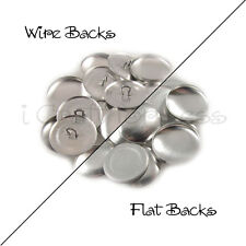 """Size 45 (1 1/8"""" - 28mm) Cover Buttons - Flat Back / Wire Back - Choose Quantity"""