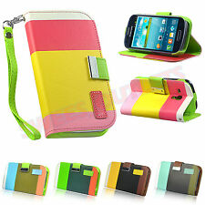Hybrid Leather Flip Wallet Case Cover For Samsung Galaxy S3 MINI I8190 Pen+Film