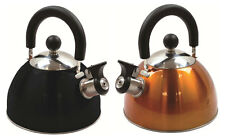 NEW 2 Litre Stainless Steel DELUXE Whistling Kettle Camping Fishing FAST BOIL