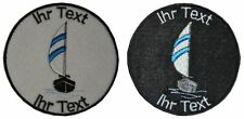 sailboat sail patch with your text 8cm embroidered logo (411-1)
