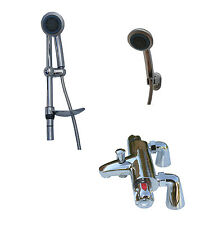 THERMOSTATIC DECK MNTD BATH SHOWER TAPS, OPTIONAL RAIL/BRACKET SHOWER SET 057DS
