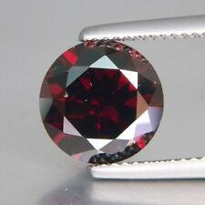 Round Brilliant Red Garnet CZ (2 - 10mm) Loose Cubic Zirconia Stone Select Size