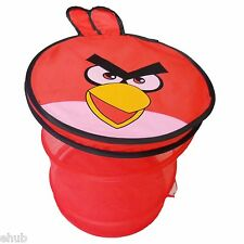 Red Angry Bird Laundry Basket Storage Clothes Toys Bin Kids Mess Tidy Up Bedroom