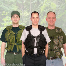 Double Fabric Layer Tactical Load Bearing Vest - One Size Fits Most/Cargo Pocket