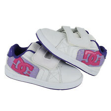 Toddler DC Shoes Net V UL Leather ADTS700003 White Purple 100% Authentic B. New