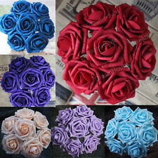 30 Real Touch Roses For Wedding Bridal Bouquets/Centerpiece Flower Home Decor 3""