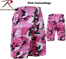 PINK Camouflage Military BDU Combat Cargo Shorts Poly/Cotton 65420