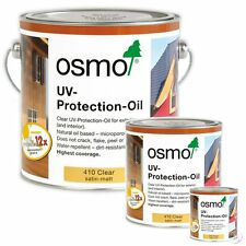 Osmo UV Protection Oil 410 Clear Satin Finish - Exterior Doors/Windows/Cladding