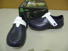 NEW DAWGS GOLF SHOES WOMENS SLIP ON SANDALS ULTRALITE NAVY/WHITE