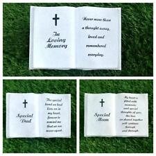 Funeral Graveside Grave Memorial Book with Cross VARIETY