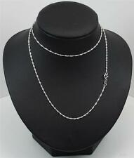 Sterling Silver Chain 925 18inch long 1mm wide link Singapore Rope
