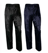 Mens Baum Country Lightweight Waterproof Over Trouser Hiking Black & Navy