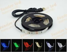 Led Strip Light Waterproof 5V+USB Port Cable Super Bright To PC Laptop Computer