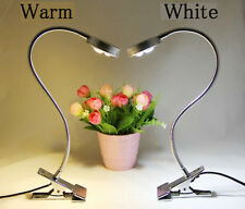 LED Desk Lamp Table Bedside Study Reading Light Clip ON/OFF Clamp Bright