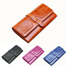 New Women Fashion Top Genuine Leather Wallet Clutch Purse Lady Long Handbag Bag