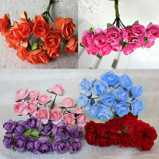 144x Hotsale DIY Artificial Rose Bud Paper Flower Craft For Party Wedding Decor