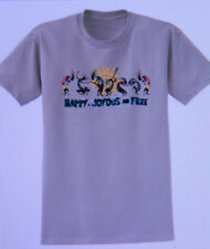 SOBRIETY/ RECOVERY TEE SHIRT - HAPPY JOYOUS AND FREE