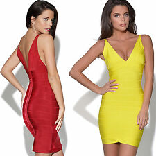 Women's Bandage Bodycon Stretch Party Sexy Evening Wedding Dresses Size 6-18