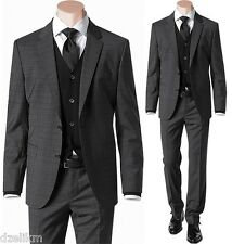 NWT $895 Hugo Boss Black Label Slim Fit Checked Luxurious Business Suit Size 42L