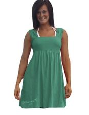 COWGIRL TUFF Western Teal Summer Dress Sundress Cover Up Sleeveless NWT  N00006