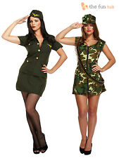 Ladies Sexy Army Fancy Dress Costume Soldier Camo Womens WW2 Size 8 10 12 14 16