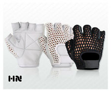 MESH LEATHER WEIGHT LIFTING PADDED GLOVES FITNESS CYCLING GYM SPORTS WHEEL CHAIR