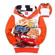 Cool Cars Lightning McQueen Kids Toddlers Boys Girls Hoodie Unisex Coat 2-8Years